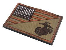 AMERICAN USA FLAG MARINE CORPS USMC DESERT USA ARMY U.S. MORALE HOOK PATCH *01