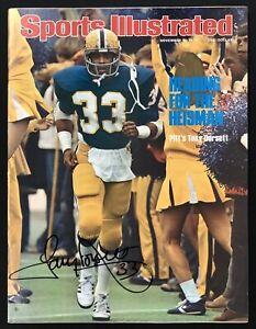 Tony Dorsett Signed Sports Illustrated 11/8/76 No Label Panthers Auto HOF JSA
