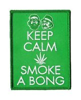 Keep Calm Humo un Bong (Cheech&Chong) Paño Parche (Cv)