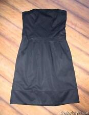 CLUB MONOCO ~ Size 4 ~ Black Strapless Corset Drop-Waist Dress
