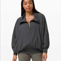 Womens Lululemon New Rituals Jacket Graphite Gray Size 8 LW3DJMS