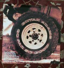 Bryan Adams So Far So Good rare original promotional poster