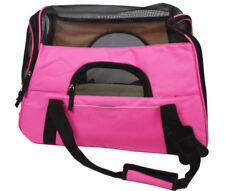Pink Breathable Cat Dog Pet Knapsack Oxford cloth + nylon net