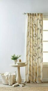 Bee & Willow Bedford 95-Inch Rod Pocket Window Curtain Panel in Natural, NEW