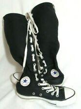 New listing Converse All Star Black Tall Knee High Zip Back Sneaker Tennie Shoe Size 5 EUC