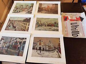 MAURICE UTRILLO 6 art prints with original cover