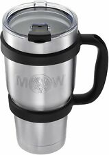 Insulated Tumbler Mug Travel Cup - 30 oz Premium Large Thermal Set w/ Anti Slip