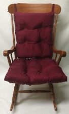 3 pc Burgundy Rocking Chair or Glider Cushion Set Over Sized Indoor Outdoor