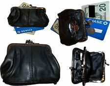 Lot of 4 New Ladies 2 Sided 2 Pockets Leather Change Purse Coin purse zip case*+