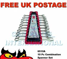 Teng Tools 6510A Combination Spanner Set 8-19mm 10 pce
