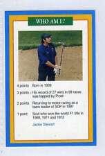 (Jj113-100) RARE Trade Card Premier of Jackie Stewart ,Race Driver 1997 MINT