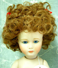 """Playhouse Doll Wig """"Vickie"""" Size 8-9 - Auburn - Curly w/ High Pigtails - Cute!"""