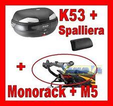 KAWASAKI VERSYS 650 10-12 VALIGIA BAULETTO K53N + MONOKEY 451FZ + M5 + SPALLIERA