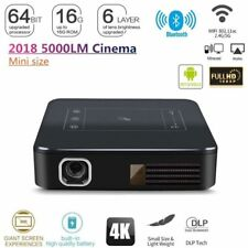 2018 HD 4K DLP Home Theater Projector Wifi 1080P Mini Android 7.1 2G+16G HDMI UK