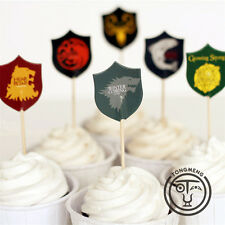 HOT! 24pcs Game of Thrones TV Series Cupcake Toppers Birthday Party Decor Gift