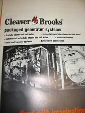 Cleaver-Brooks Boiler Aqua-Chem 1972 Catalog Asbestos History