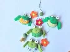 Children's room decoration, handcrafted hangings and mobile- The green frog