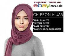 Chiffon Scarf Hijab High Quality Elegant Sarong Shawl Wrap Plain Georgette