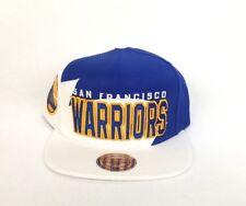 Exclusive Shark Tooth Mitchell & Ness Golden State Warriors Snapback Hat Cap