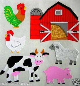 VINTAGE RARE Sandylion Red Barn Farm Animals GOAT DUCK HEN SHEEP Stickers G06