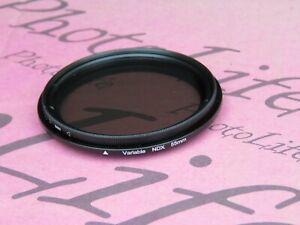 55mm ND Fader Filter Neutral Density Variable Adjustable ND2-400 for Lens