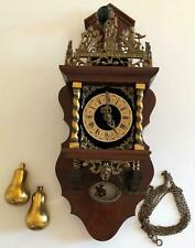 1960s Dutch/German 8-day Wall Clock with chimes & Horse Rider Pendulum