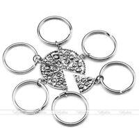 BFF Necklace Pizza Best Friend Keychains Pendant Friendship Jewelry Charm - 6pcs