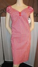 Cotton Wiggle, Pencil Striped Regular Size Dresses for Women