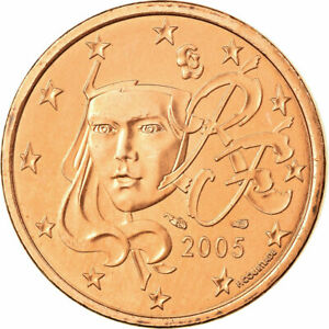 [#699126] France, 5 Euro Cent, 2005, SPL, Copper Plated Steel, KM:1284