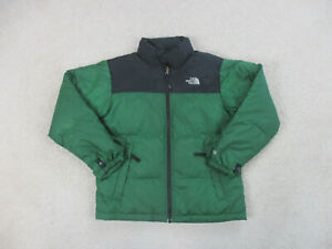 The North Face Jacket Boys Medium Green Black 600 Puffer Coat Outdoors Kids *