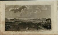 Seine River View Paris France nice ca. 1780's fascinating old engraved print