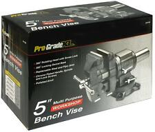 "5"" Multi Purpose Bench Vise,360° Rotating Head, Hardened Steel Jaws, Pipe Jaws"