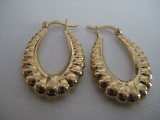 Gold creole hoop earrings 9 carat yellow gold