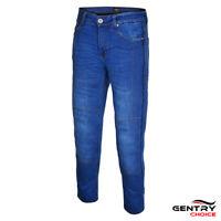 Men's Motorcycle Motorbike Riding Reinforced Jeans Blue DuPont™ Kevlar® Lined