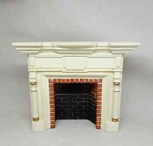 Vintage Braxton Payne Fireplace Mantle With Insert Dollhouse Miniature 1:12