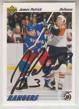 Autographed 91/92 Upper Deck James Patrick - Rangers