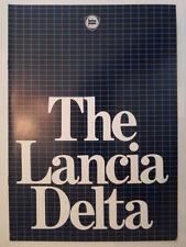 LANCIA Delta 1500 Orig 1980 1981 Reino Unido Mkt folleto de ventas