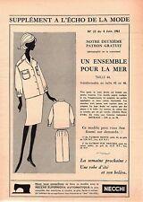▬► Patron Couture Écho de la Mode - 1961 N°23 - Taille 42 44 46 - Ensemble