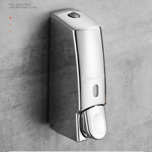New Bathroom Wall Mounted Single Press Commercial ABS Soap Dispenser Chrome