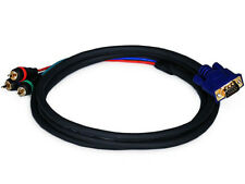 6ft VGA to 3 RCA Component Video Cable (HD15 - 3-RCA)  6 feet 6'