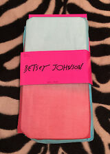 NWT Betsey Johnson Sunrise Ombre Tights S/M Light blue Mango coral two tone fade