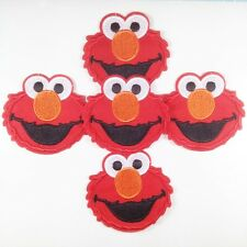 5pc Sesame Street Elmo Iron On Sew On Embroidered Patches Appliques sewing craft