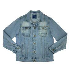 Zara Man Jean Jacket Men's Size XL Blue Long Sleeve Button Up Cotton Denim