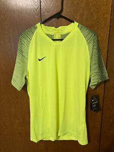 Nike Vaporknit II Soccer Shirt Jersey Volt Mens NWT $70 AQ2674-702 Sz LG