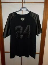 Waimea t-shirt vintage camiseta de piel sintética charol destroyed look estados unidos Black Gay XXL