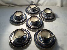 Booths Real Old Willow Demi Tasse Coffee Cup Trios X 6