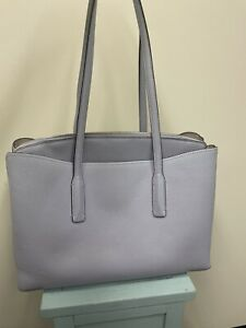 kate spade margaux large work tote frosted lilac