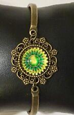 Bracelet Tibetan Spiritual Mandala Symbol Bronze Adjustable Lobster Clasp groovy
