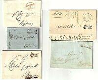 PREFILATELIA 1833/54 - EDOLO x Orzinuovi-GARGNANO,PIACENZA,RIVA,TRENTO x Brescia