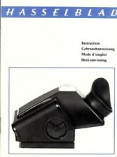 Instruction Gebrauchsanweisung Hasselblad for TTL Prism Finder German English